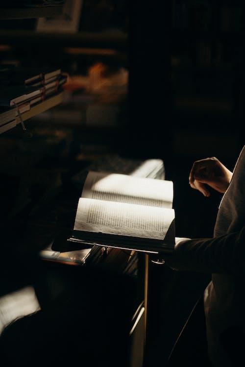 Základová fotografie zdarma na téma čtení, kniha, lehký, osoba