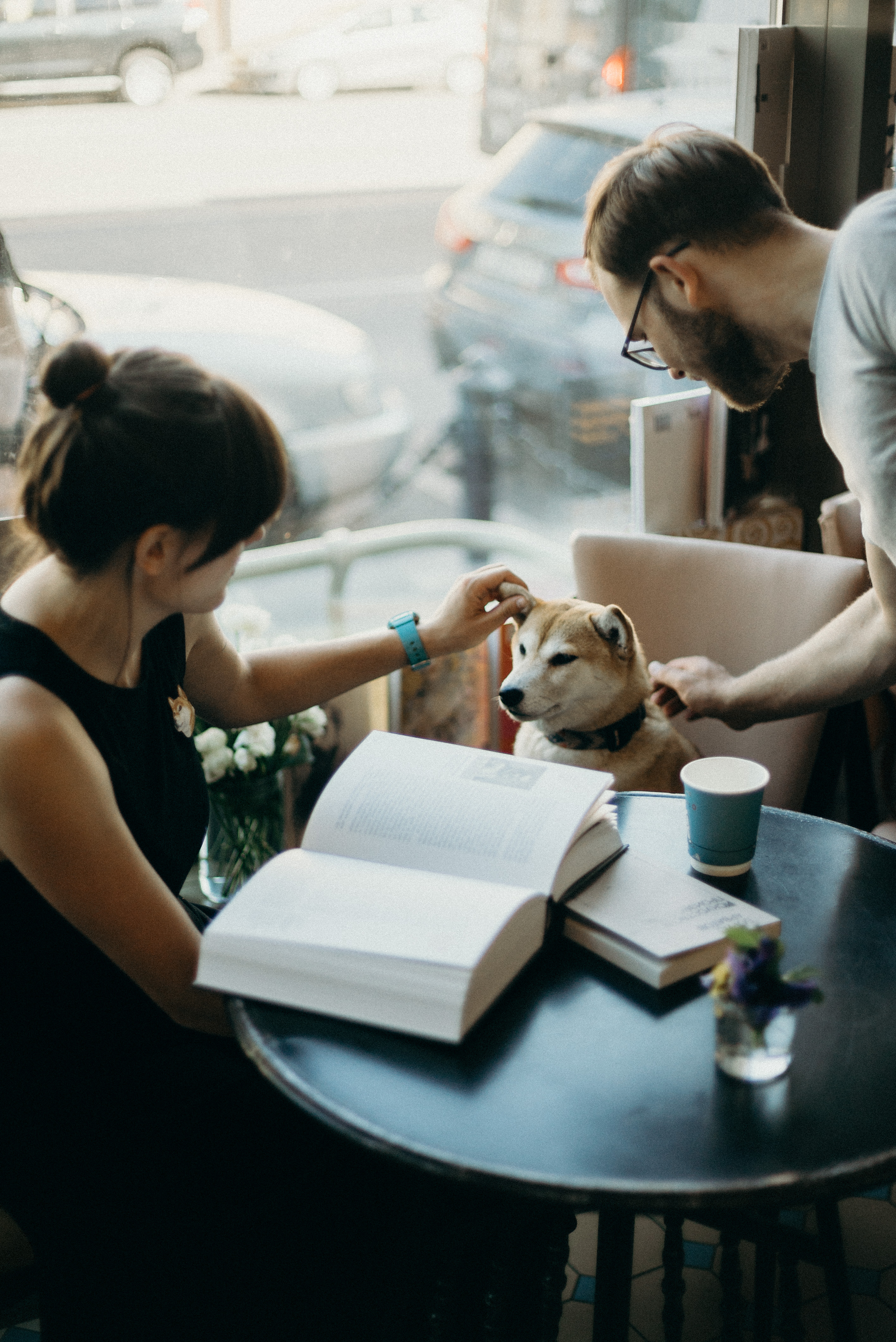 Photo Of People Beside Dog