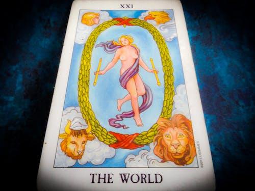 Free stock photo of cards, tarot, world