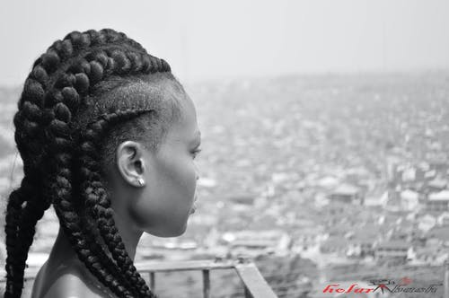 Free stock photo of black and white, braids, conrows