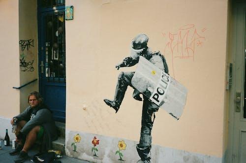 Imagine de stoc gratuită din artă pe perete, arte vizuale, băut, desen