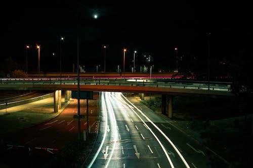 Kostnadsfri bild av lampor, lång exponering, natt