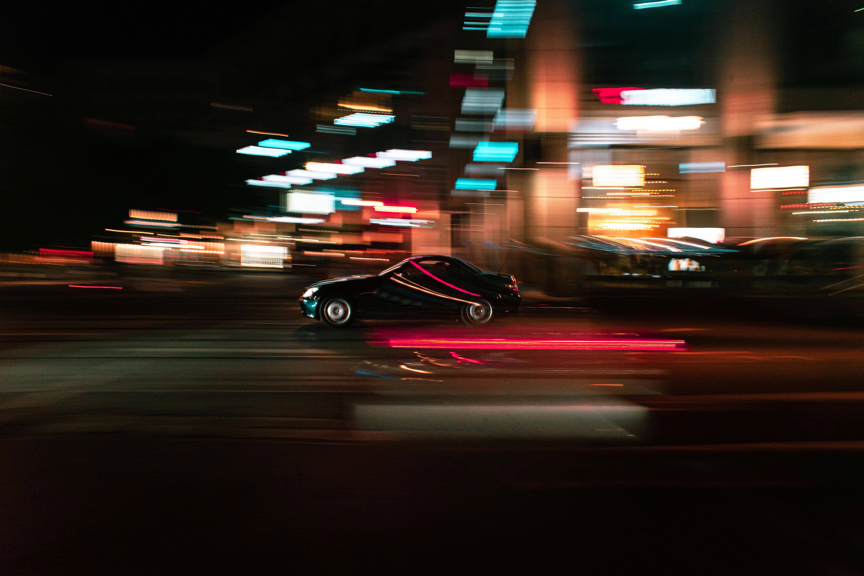 Long-Exposure Photo of a Car