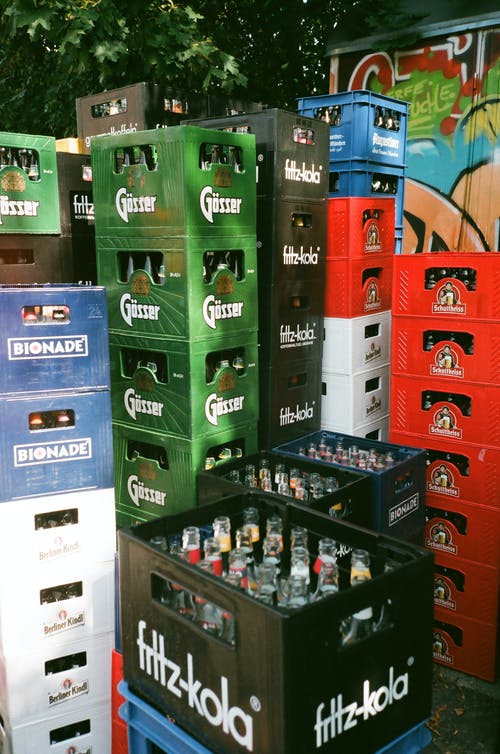 Crates With Empty Bottles