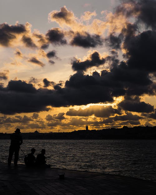 Free stock photo of clouds, fishing, old
