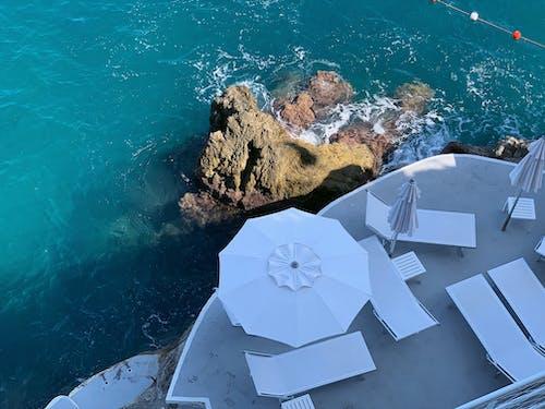 Бесплатное стоковое фото с амальфитанское, белый, голубая вода, голубой