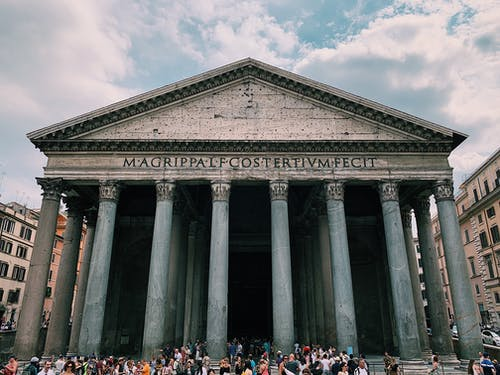 Pantheon Roman Temple in Rome