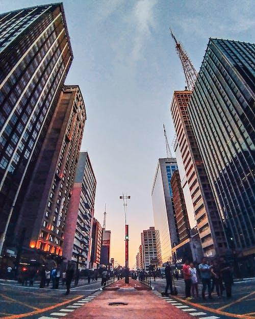 Ilmainen kuvapankkikuva tunnisteilla arkkitehtuuri, auringonlasku, business, ihmiset