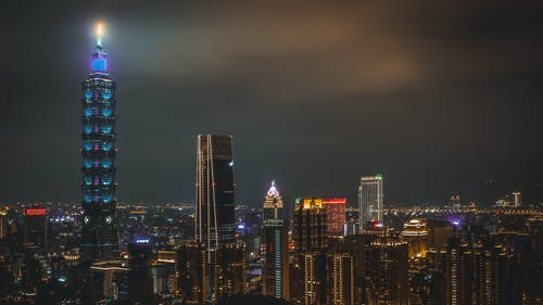 Cityscape at Night Time