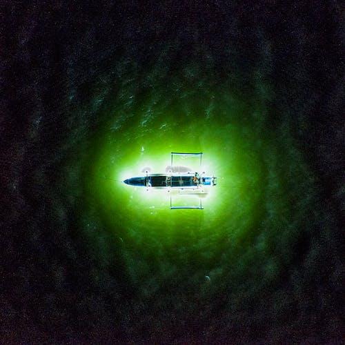คลังภาพถ่ายฟรี ของ กล้องโดรน, ชาวประมง, ซิลูเอตต์, ทะเล