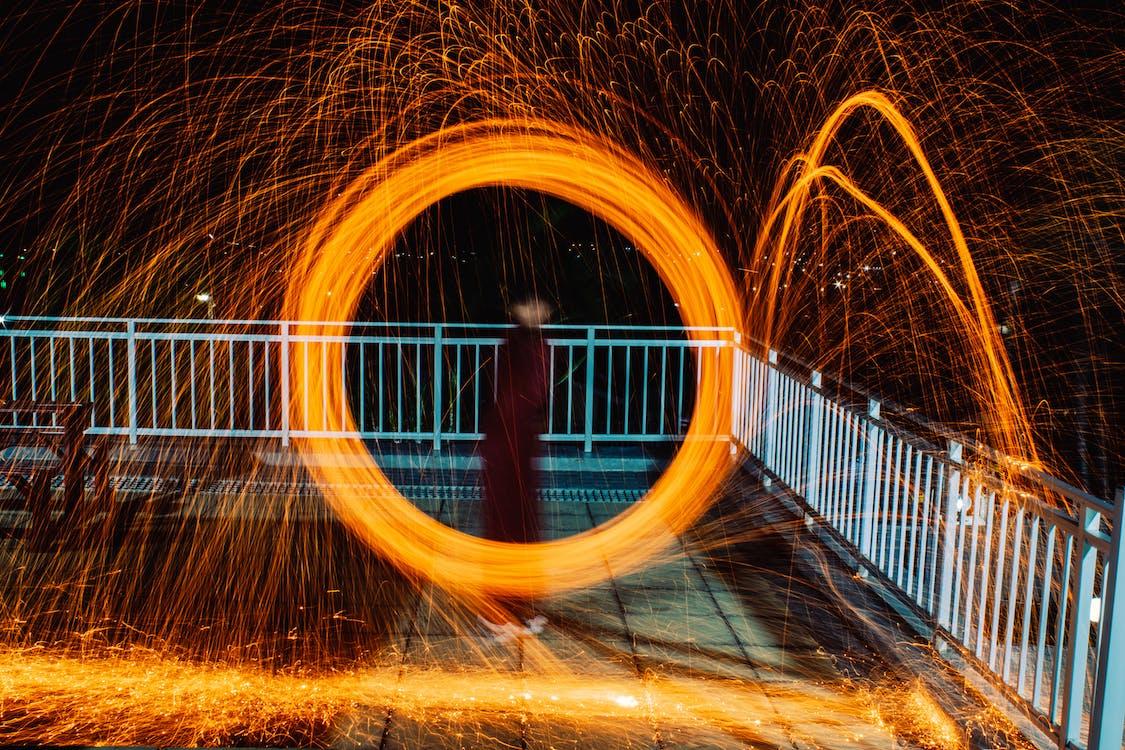ánh sáng, chụp ảnh đêm, chuyển động