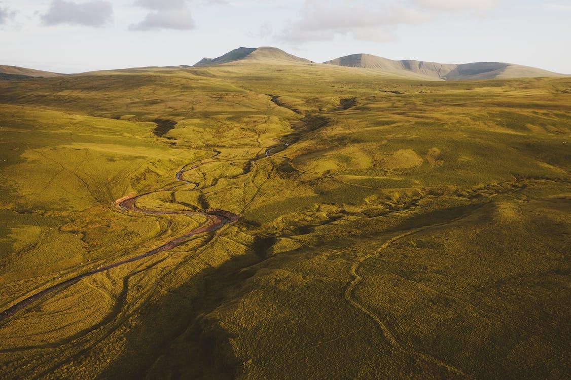 góra, krajobraz, łąka