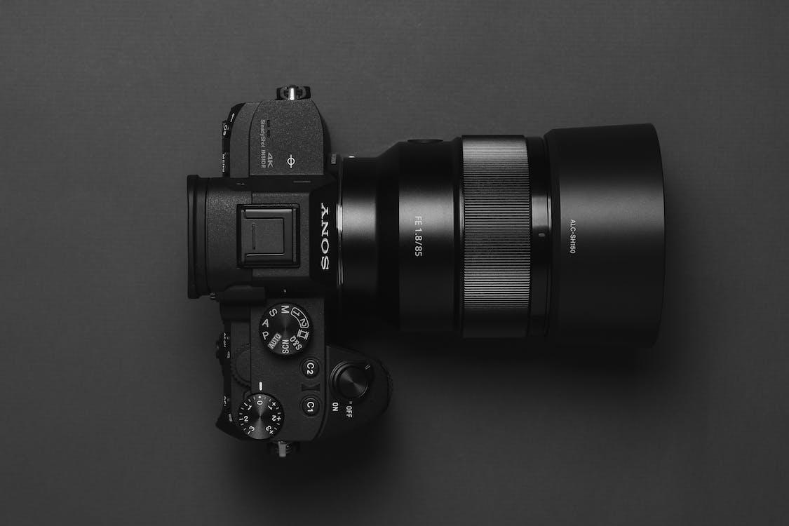 černá, černobílá, fotoaparát