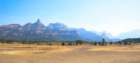 landscape, nature, blue mountains
