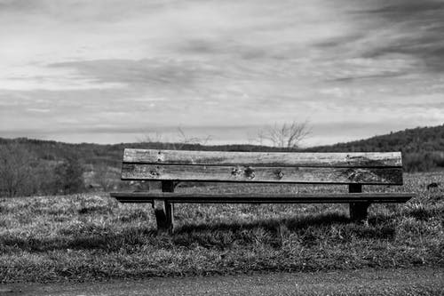 Free stock photo of bench, cloudy, hill, lonely