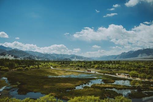 Základová fotografie zdarma na téma daleko, denní světlo, hory, hřiště