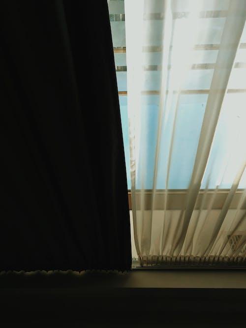 Imagine de stoc gratuită din cameră, draperie, fereastră