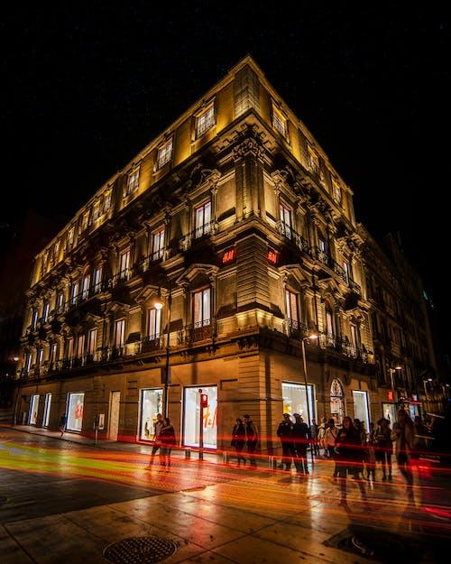 Základová fotografie zdarma na téma architektura, budova, centrum města, dlouhá expozice
