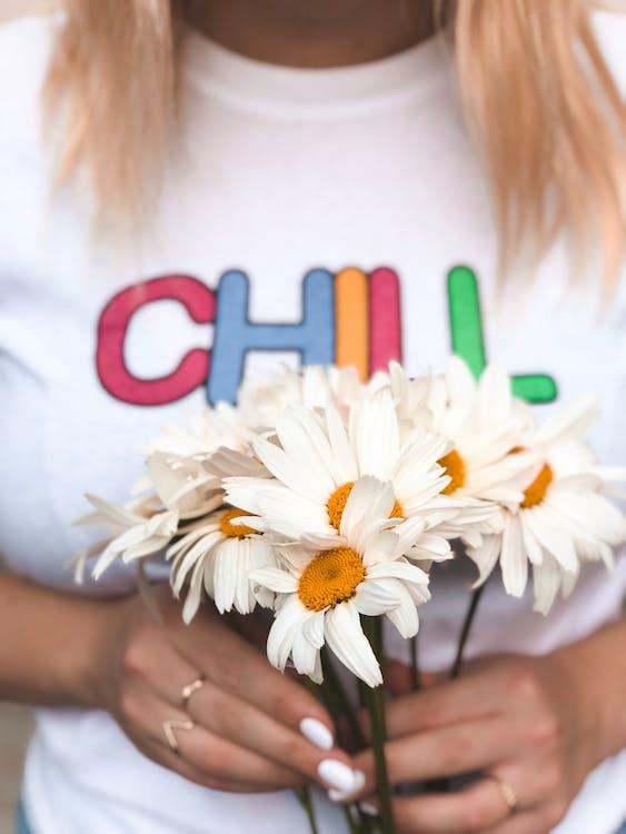 đàn bà, giữ, hoa