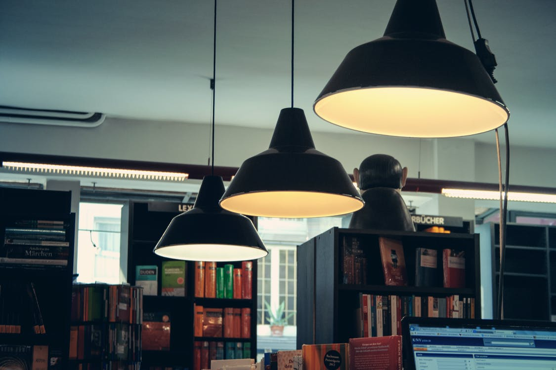 Illuminated Grey Pendant Lamps