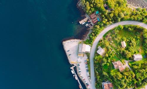 俯視圖, 天性, 家, 岸邊 的 免费素材照片