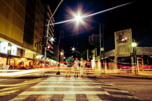 Δωρεάν στοκ φωτογραφιών με κέντρο πόλης, παρατεταμένη έκθεση, πόλη, φωτισμός