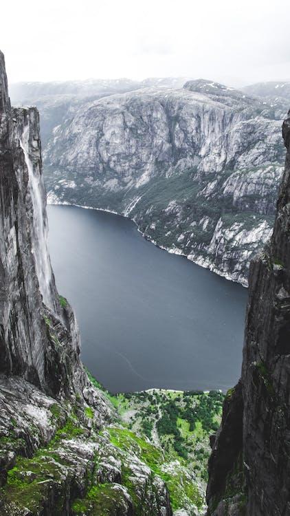 bel paesaggio, cascata, Crater Lake