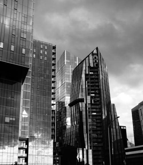Monochrome Photo Of Buildings During Daytime