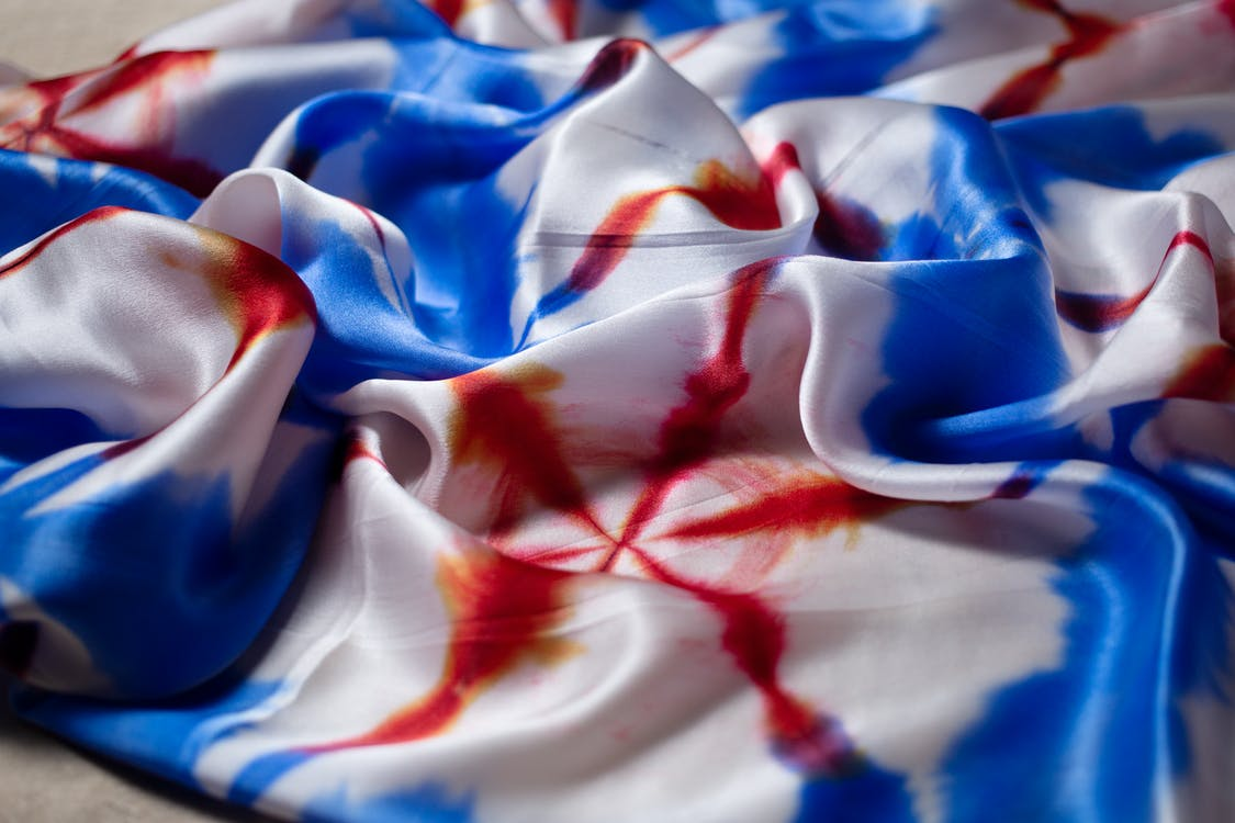 White, Red, and Blue Textile