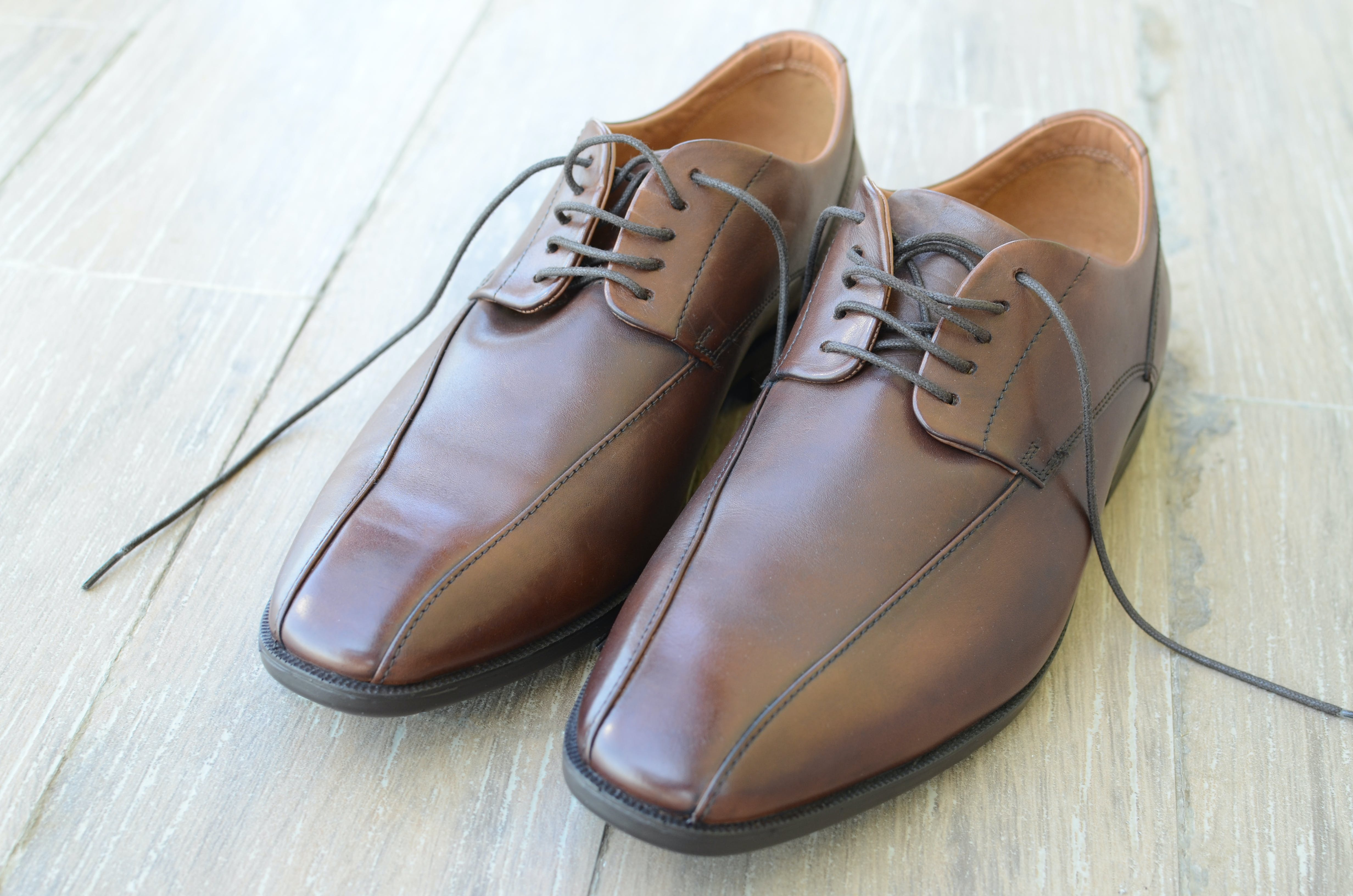 Pair of Brown Dress Shoes