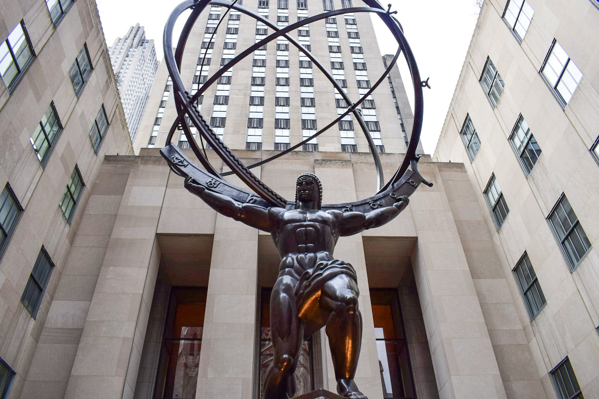 Free stock photo of architecture, buildings, new york, statue