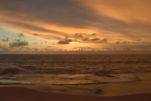 多雲的天空, 天空, 日落, 海洋 的 免费素材照片