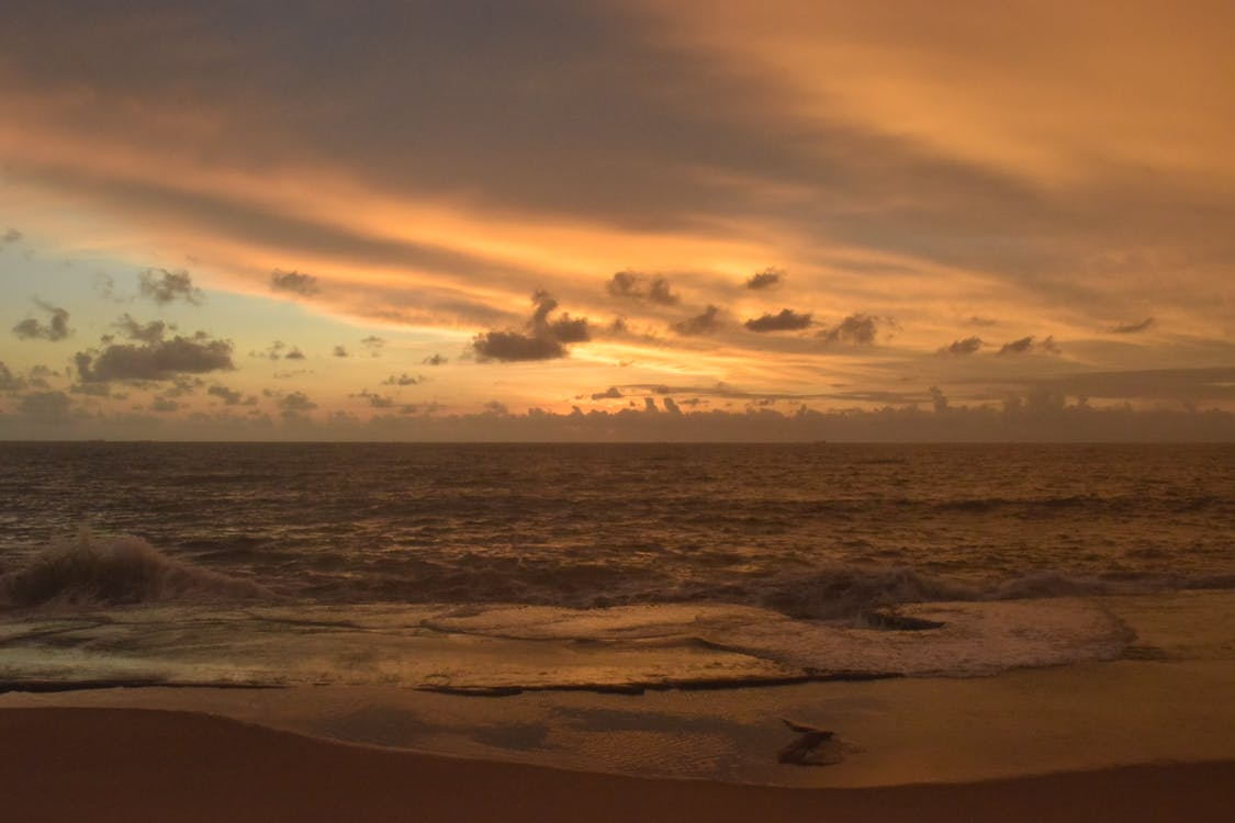 magická hodina, obloha, oceán