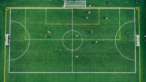Foto profissional grátis de aerofotografia, área, brincadeiras, campo de esportes