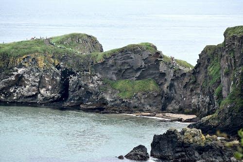 Foto profissional grátis de acidentado, costa, falésias, mar