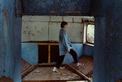35mm, 보트, 블루, 소녀의 무료 스톡 사진