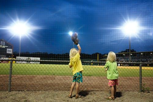 Imagine de stoc gratuită din baseball, copii, stadion