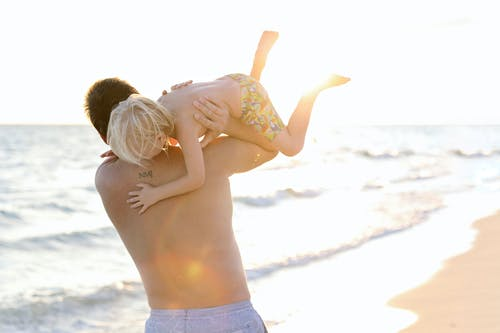 Free stock photo of baby, beach, dad, son