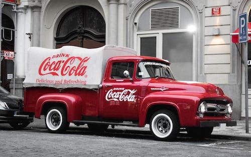Gratis stockfoto met Coca Cola, vrachtauto