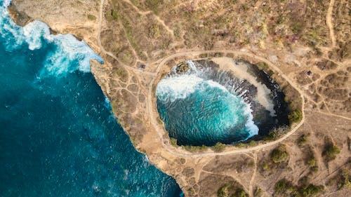 Photos gratuites de à couper le souffle, bord de mer, côte, d'en haut