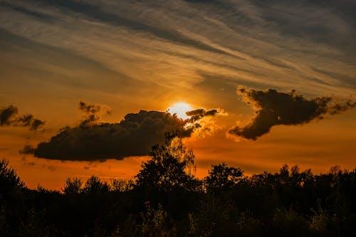 Free stock photo of Beautiful sunset, golden sun, sunset, sunset sky