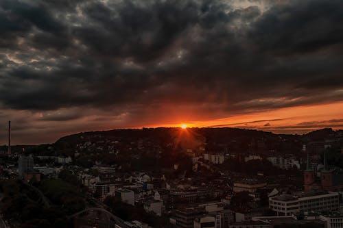 Free stock photo of Beautiful sunset, evening sun, sunset