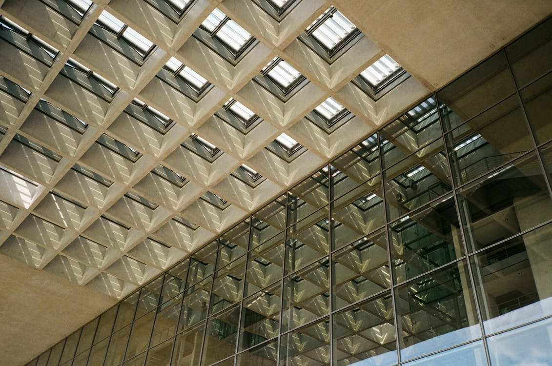 articles en verre, bâtiment, building