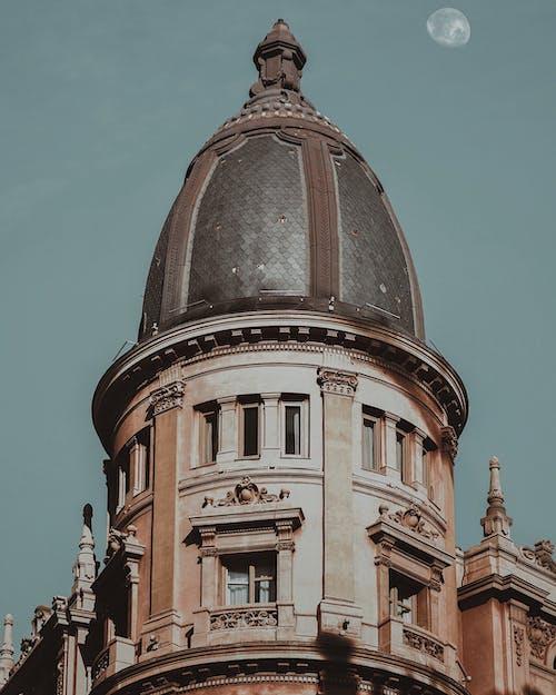 Ảnh lưu trữ miễn phí về bầu trời thành phố, kiến trúc, mái nhà, nửa mặt trăng