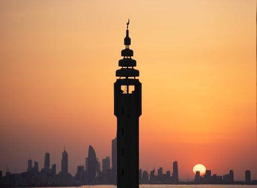 剪影, 城市, 塔, 天際線 的 免费素材照片