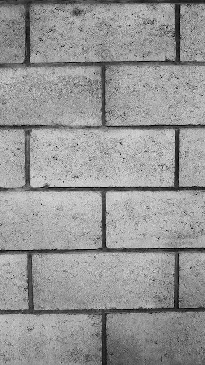 muro, P&B, parede