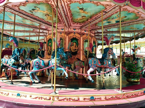 Foto stok gratis berkuda, karnaval, komidi putar, masa kecil