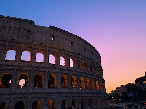 Бесплатное стоковое фото с Амфитеатр, архитектура, восход, достопримечательность