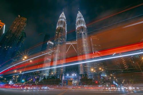 交通, 交通系統, 低角度拍攝, 光迹 的 免費圖庫相片