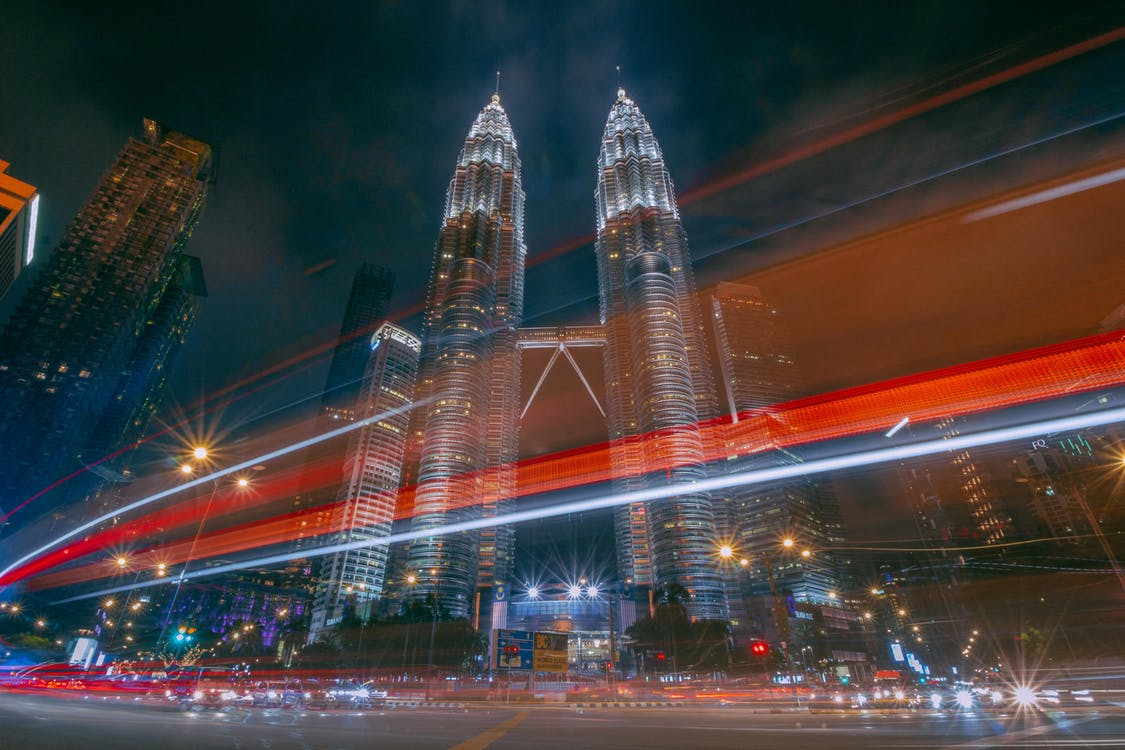 Time Lapse Photography of Petronas Twin Tower at City of Malaysia